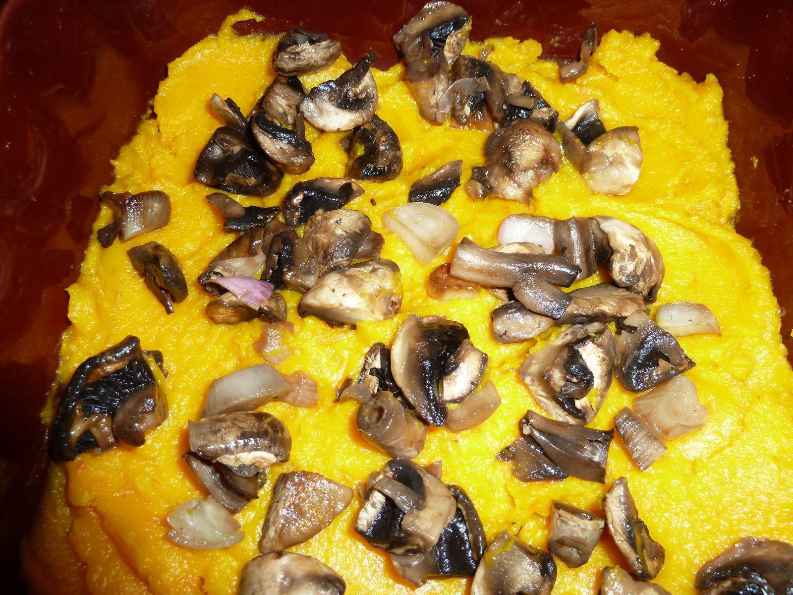 Lasagnes champignons-potimarron
