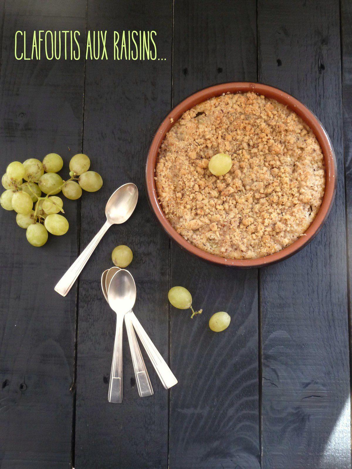 Clafoutis aux raisins et son crumble de noisette