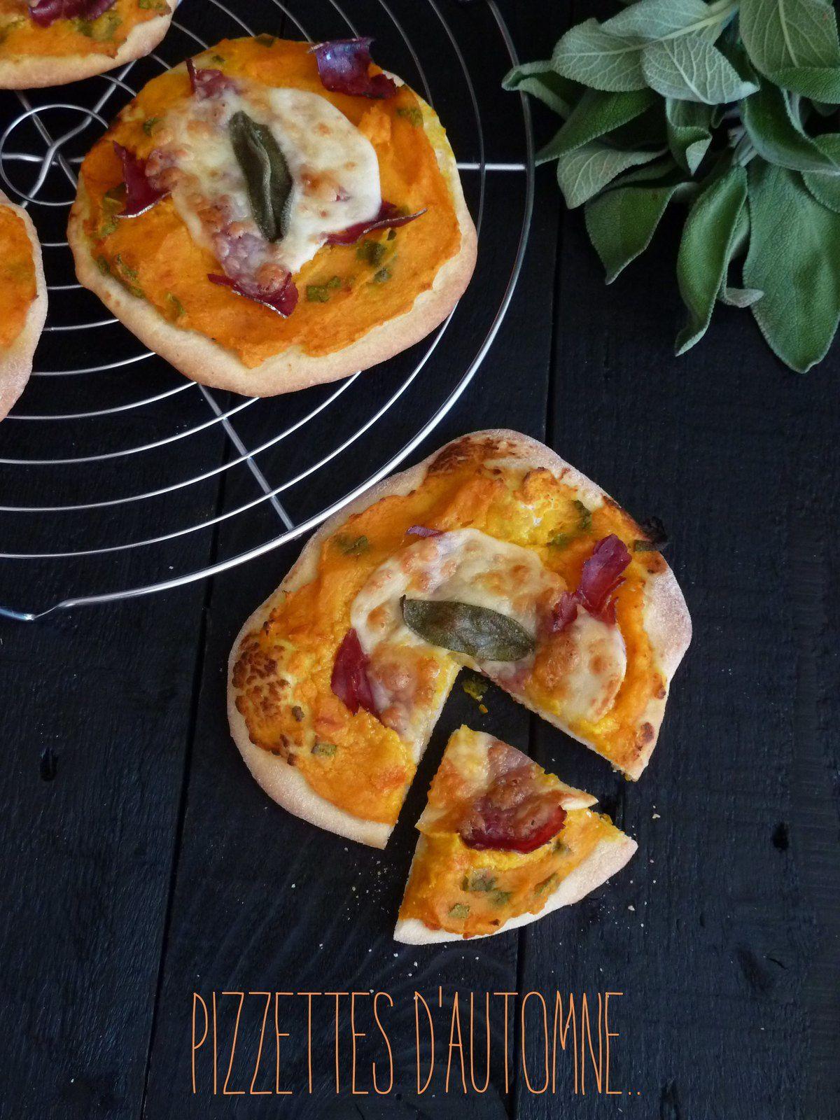 Pizzettes d'automne {Potimarron-mozza-grison}