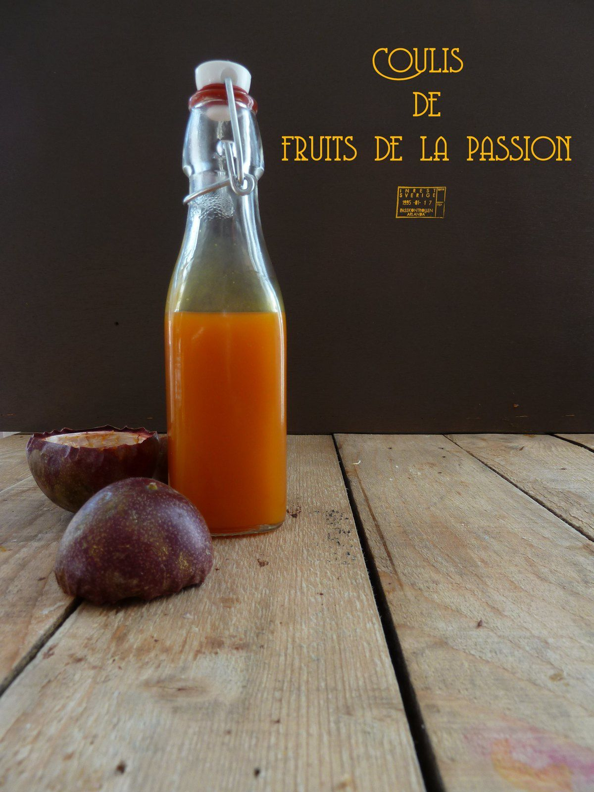 Coulis de fruits de la passion