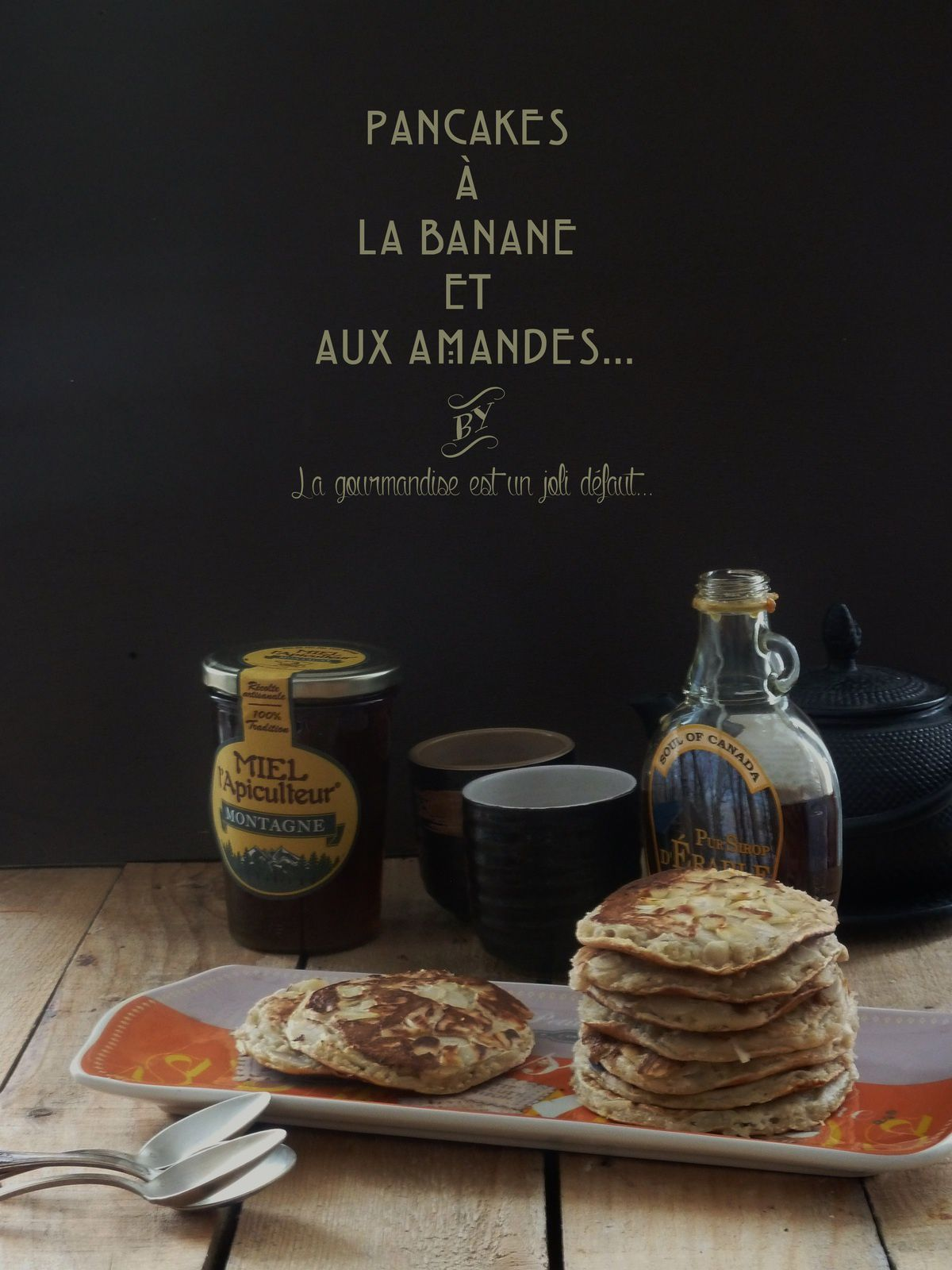 pancakes la banane et aux amandes sans oeufs mais avec. Black Bedroom Furniture Sets. Home Design Ideas