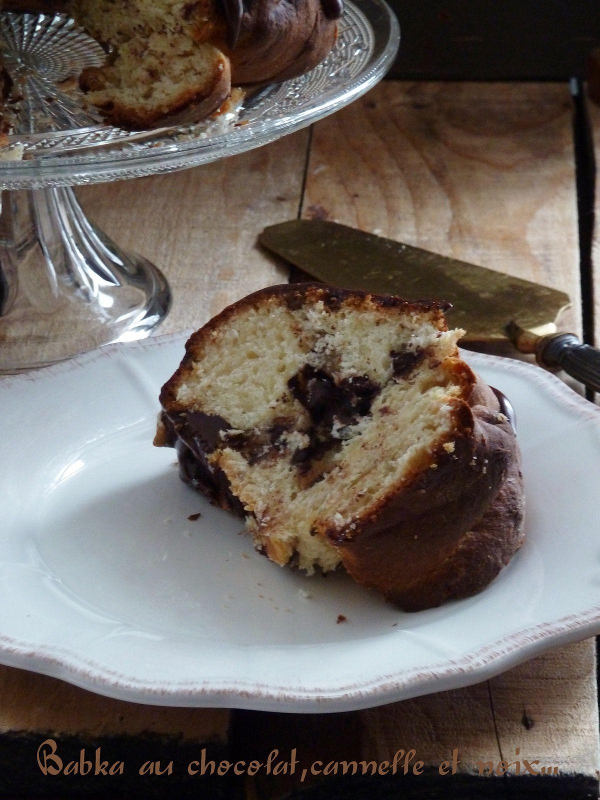 Babka au chocolat, cannelle et noix