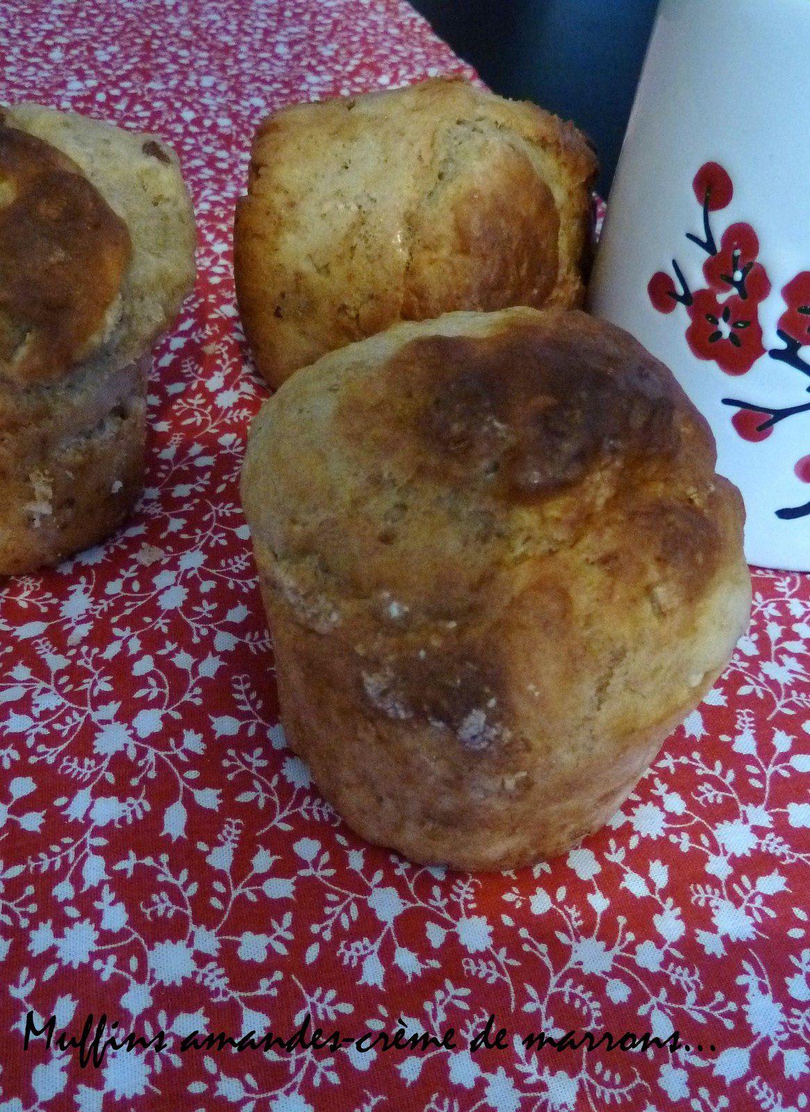 Muffins à la crème de marrons et aux amandes