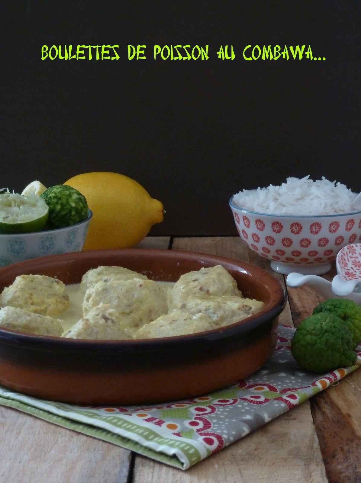 Boulettes de poisson coco combava et leur sauce aux deux citrons pour culino version
