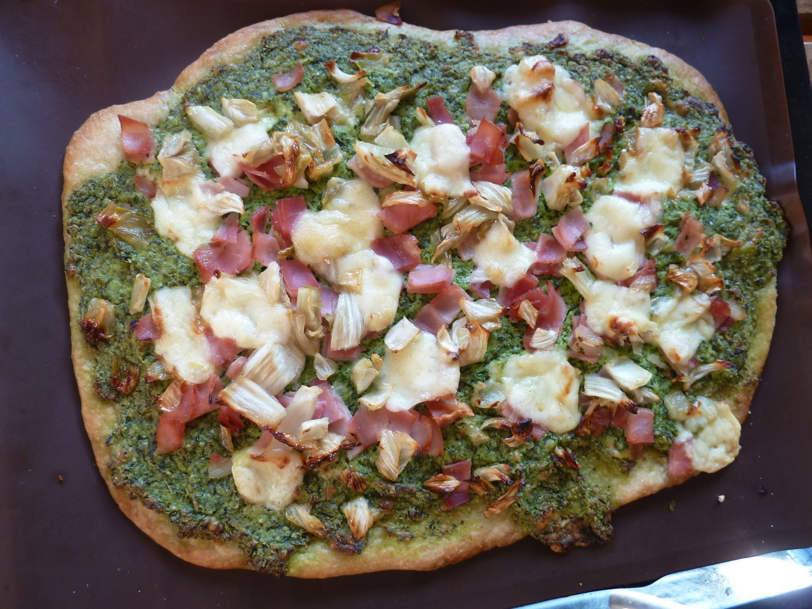 pizza roquette et fenouil