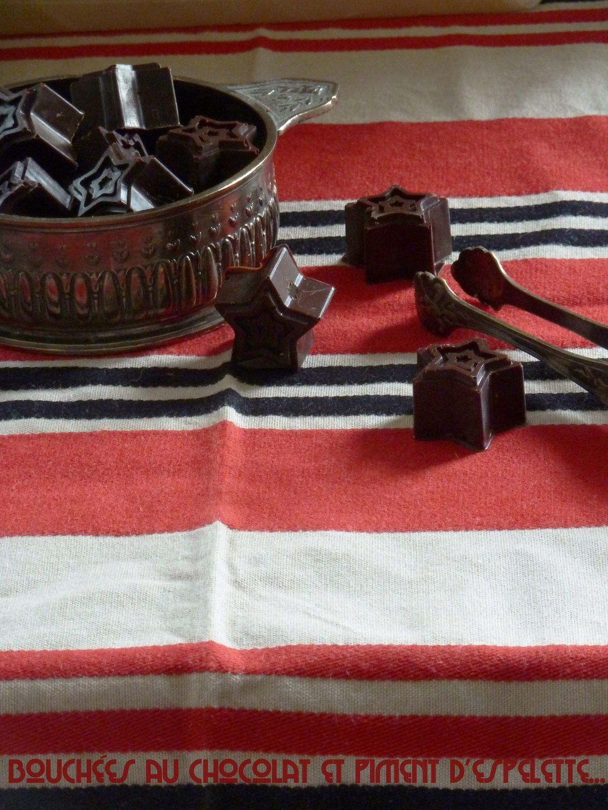 Bouchées au chocolat et piment d'espelette