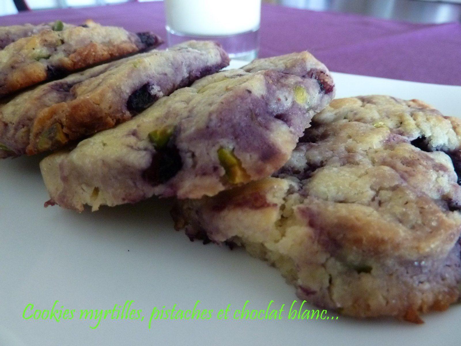Cookies myrtilles, pistaches et chocolat blanc