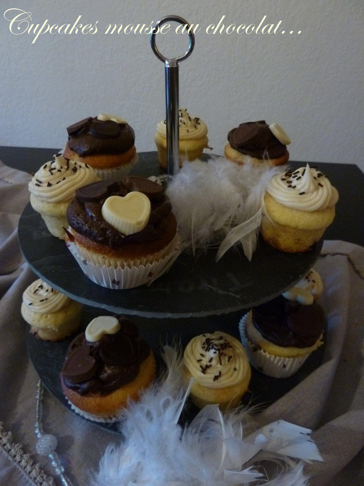 cupcake mousse au chocolat au coeur coulant