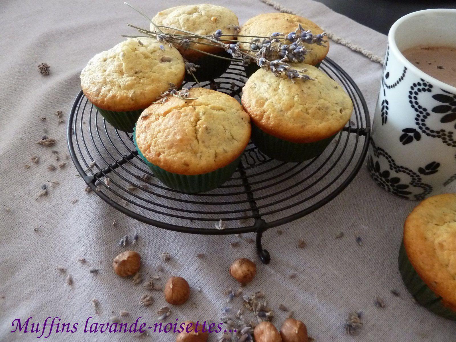 muffins noisettes lavande