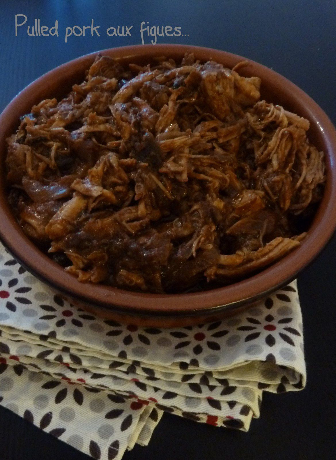 pulled pork sauce aux figues
