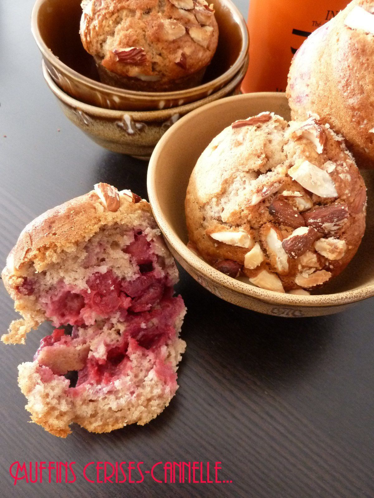muffins cerises amande cannelle