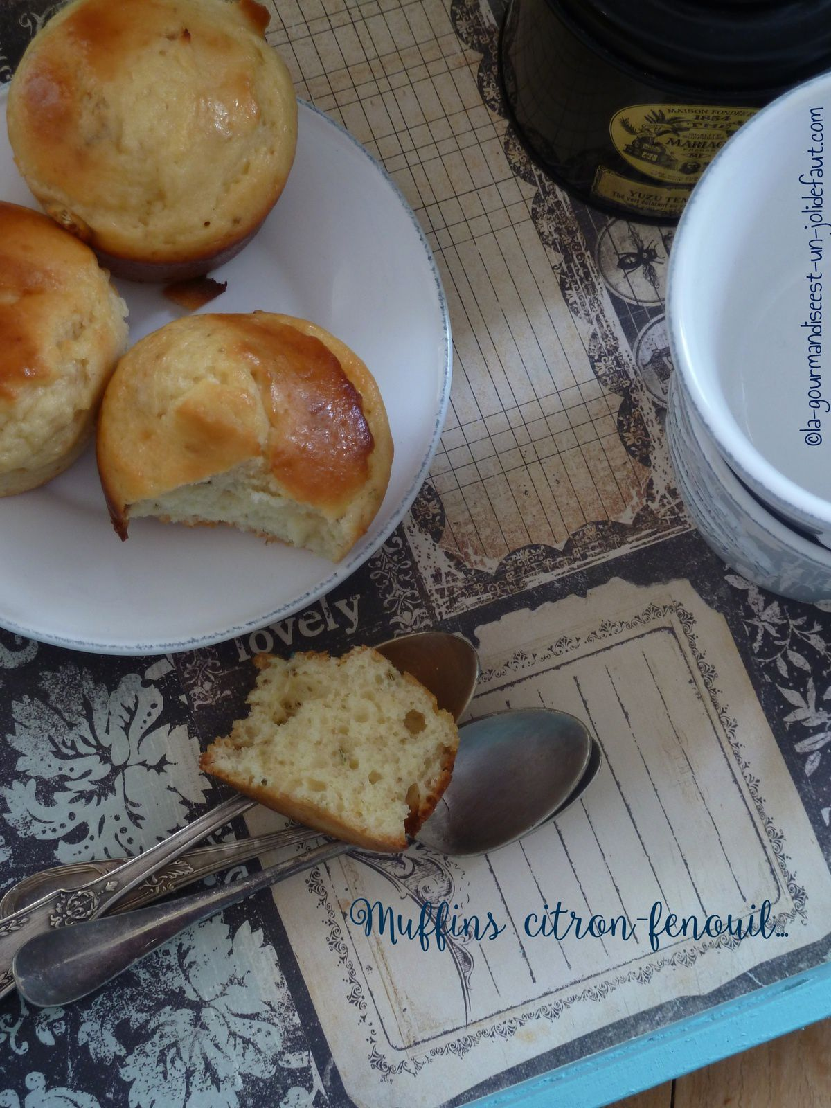Muffins citron-fenouil