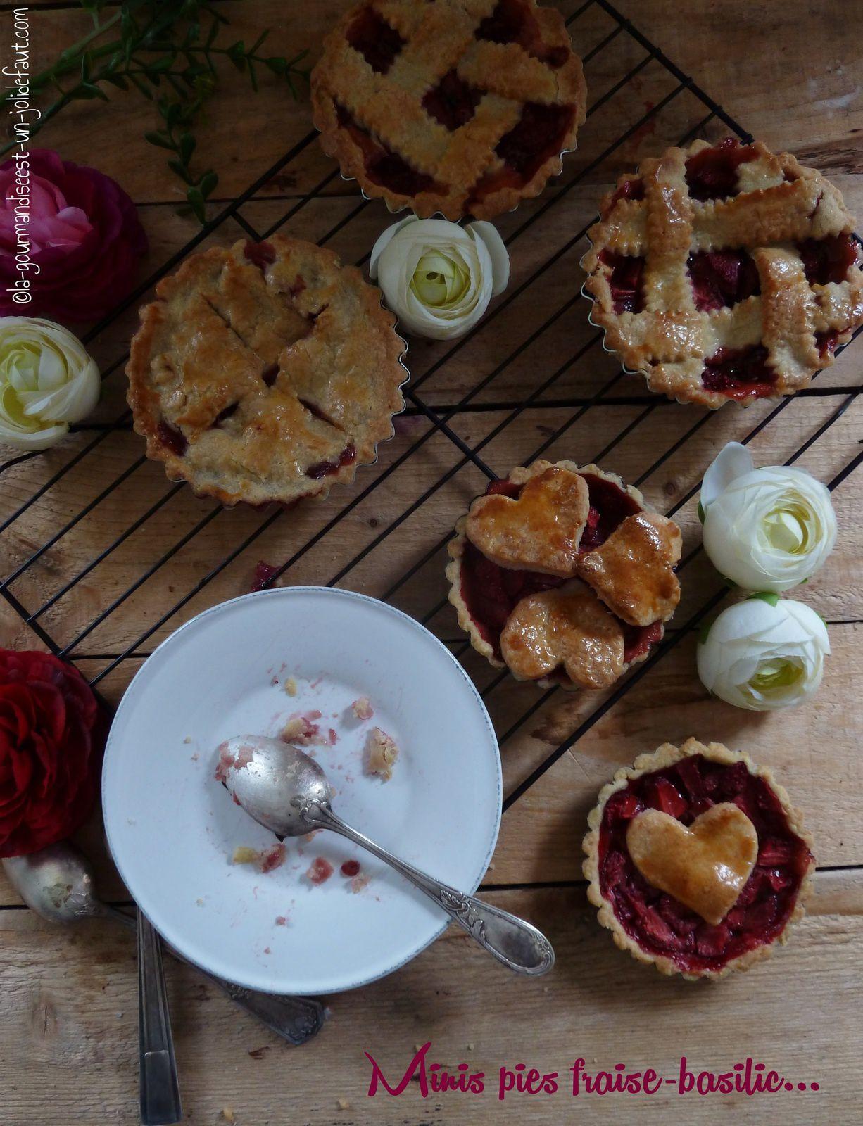 Pies fraises-basilic pour Culino version