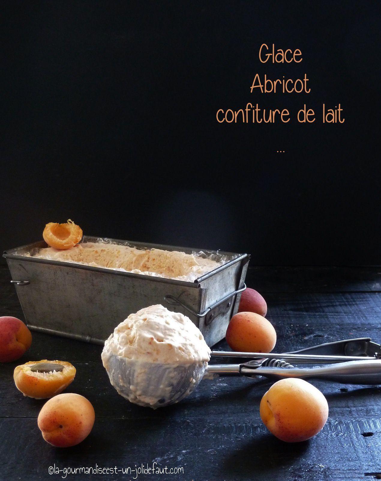Glace à l'abricot et à la confiture de lait