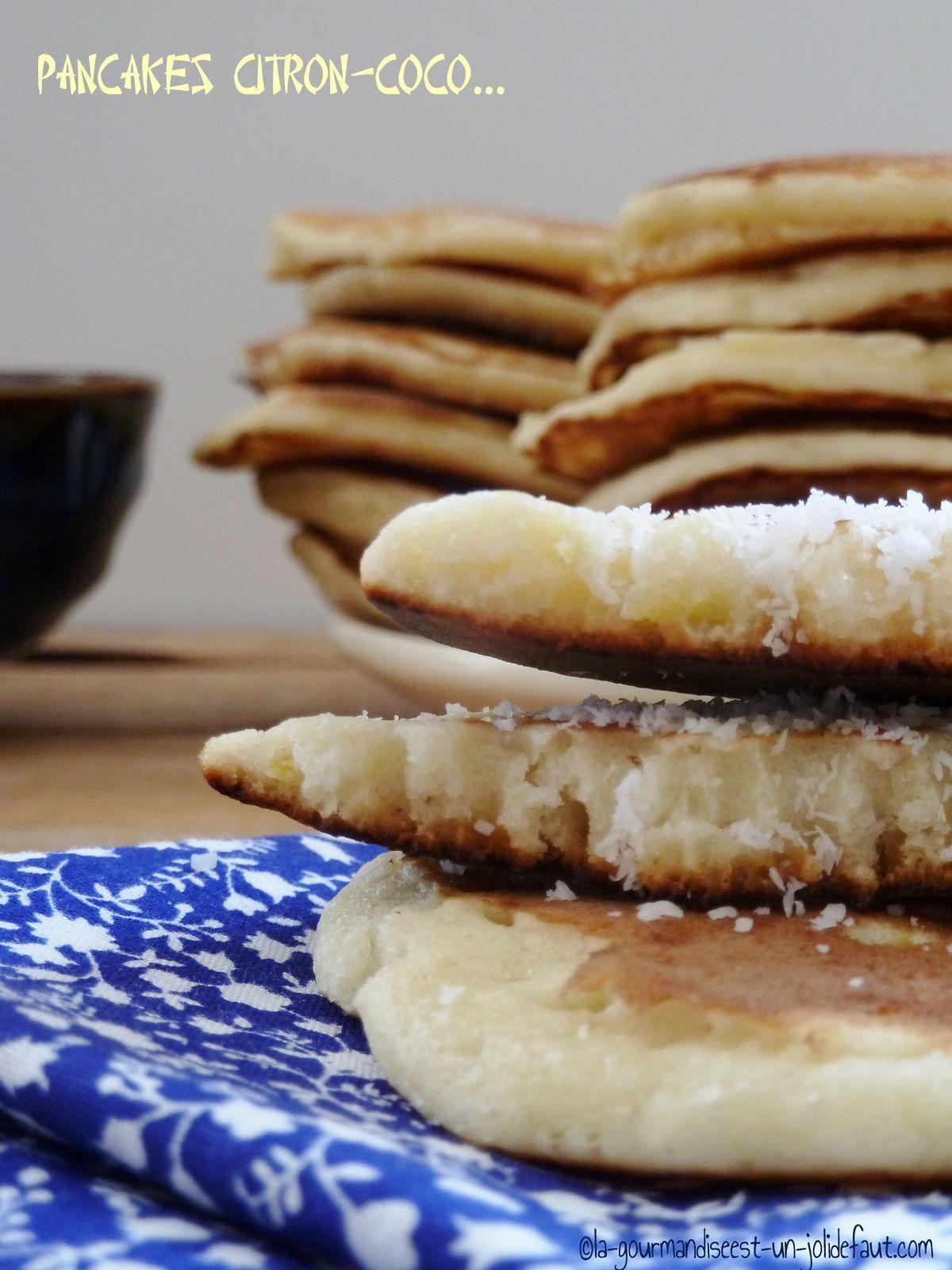 Pancakes coco-citron