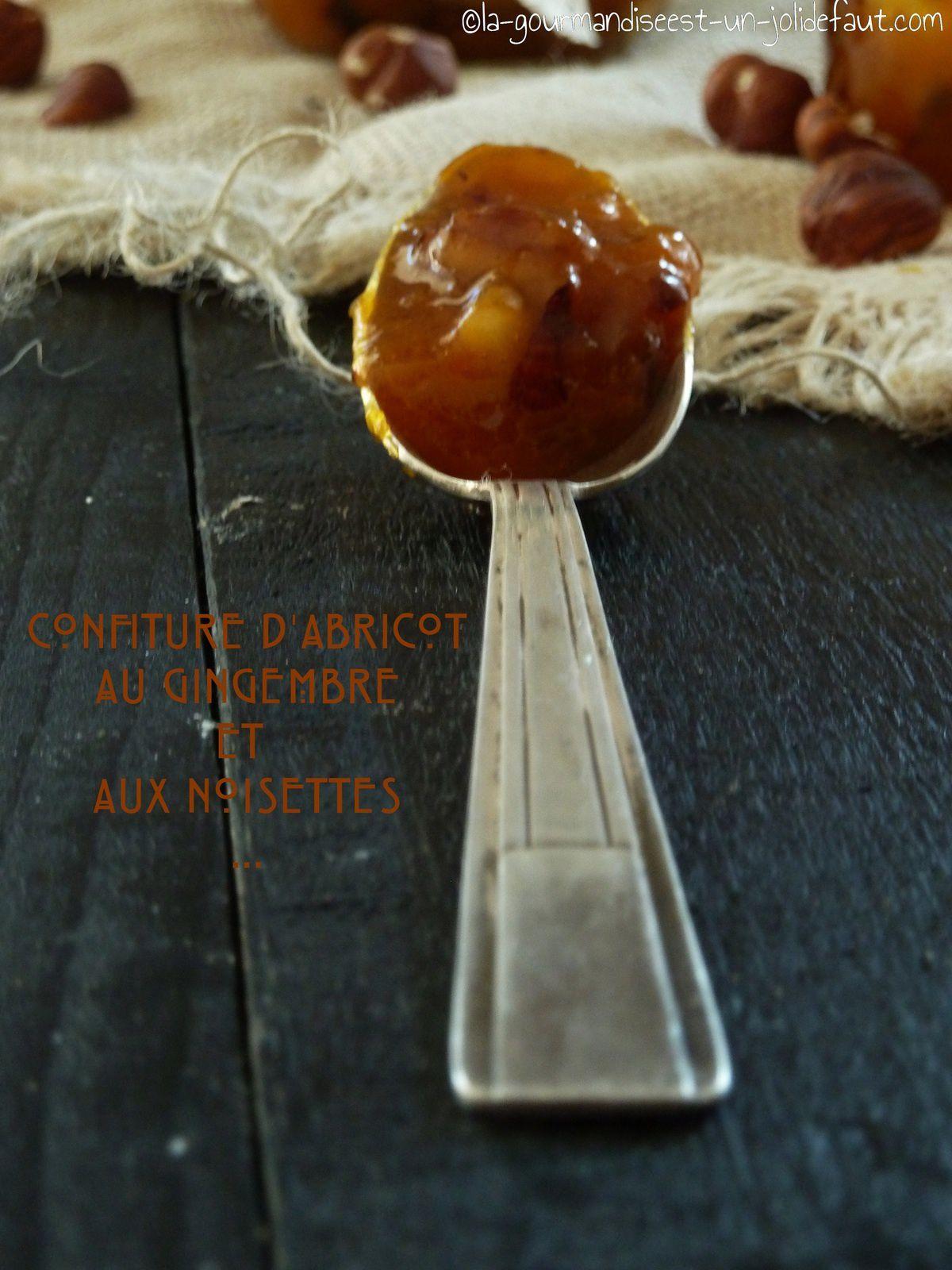 Confiture d'abricot au gingembre et aux noisettes