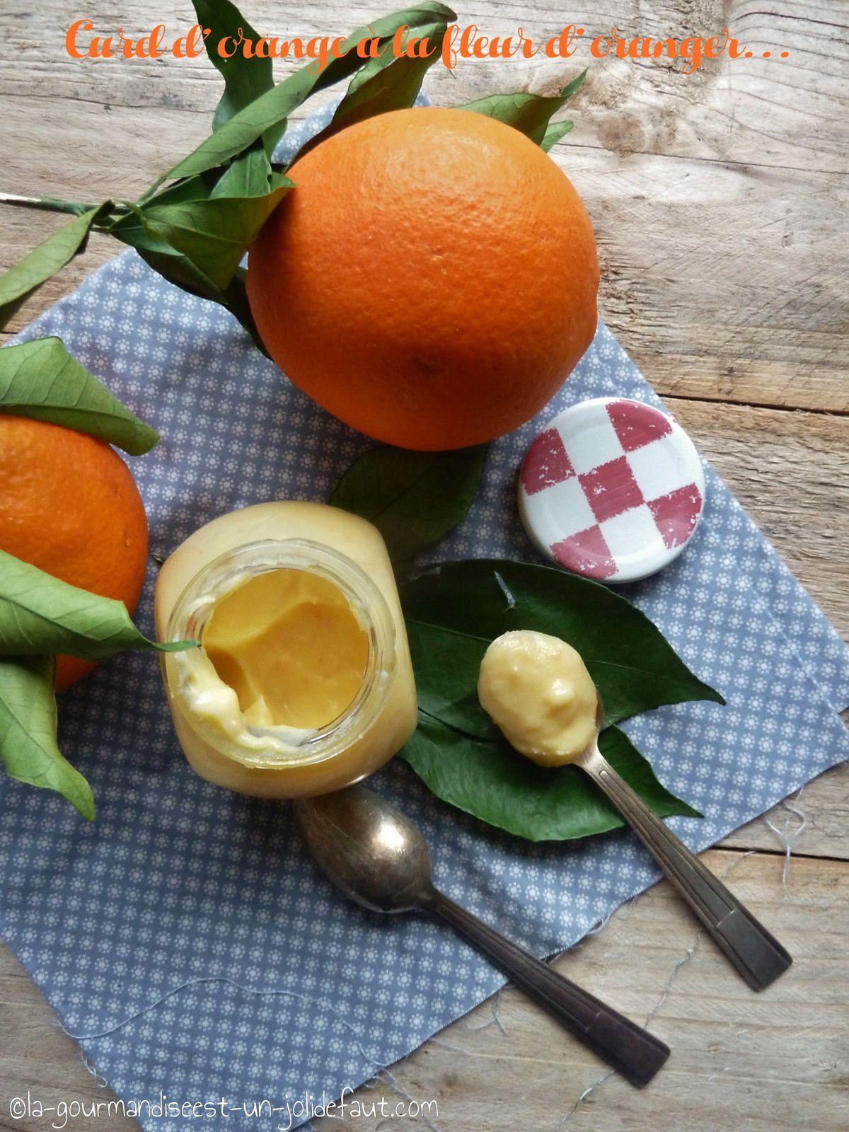 Curd d'orange à la fleur d'oranger
