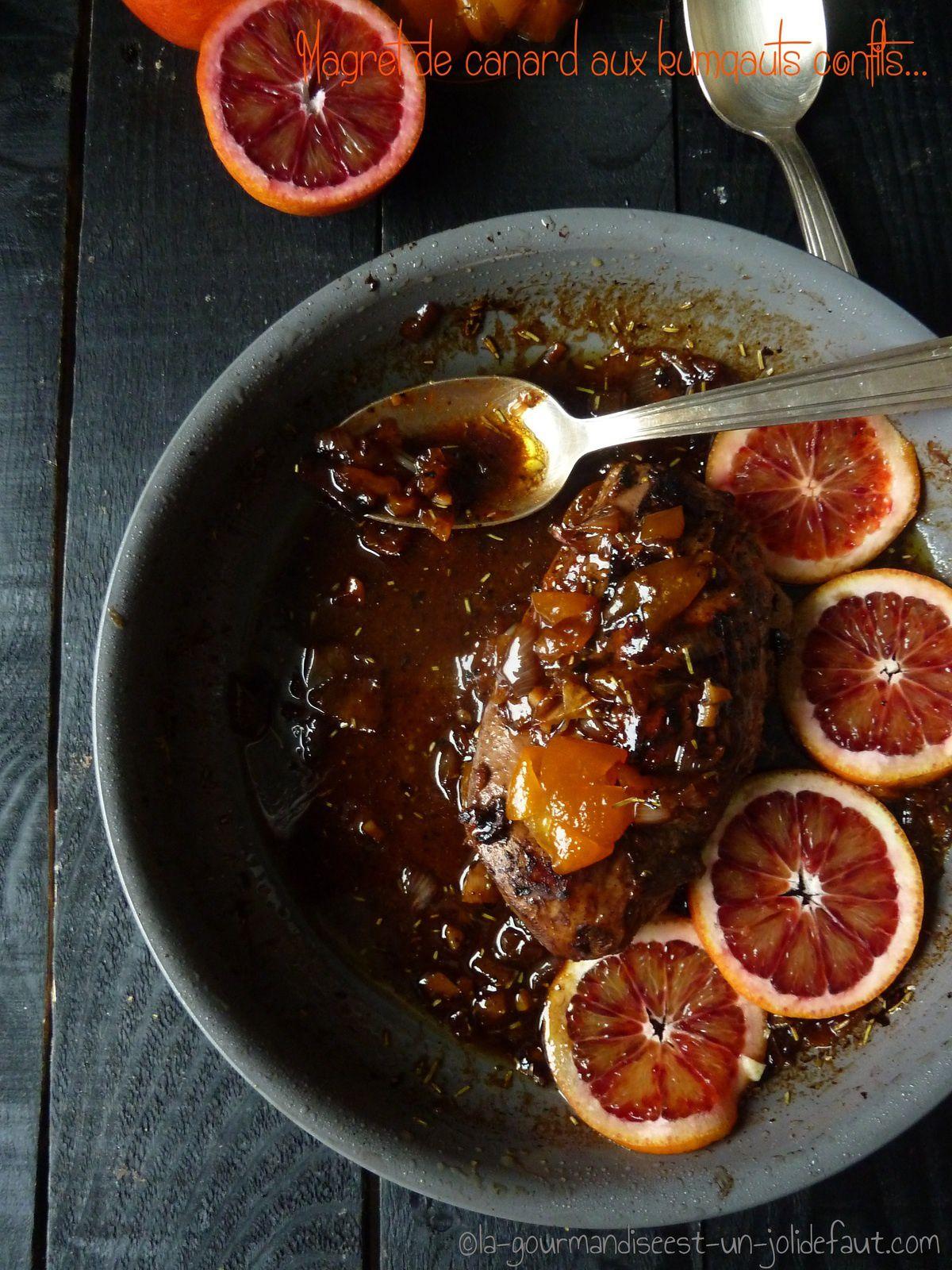 Magret de canard à l'orange et aux kumquat confits