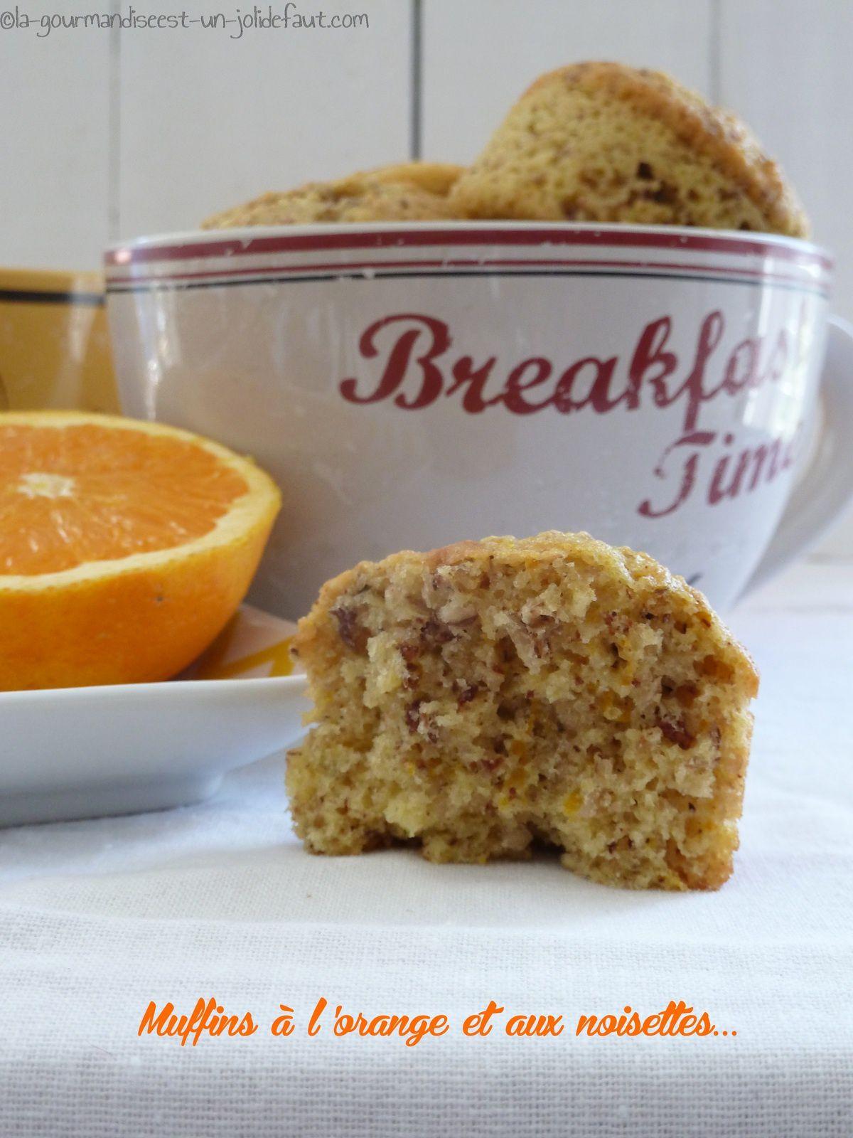 Muffins à l'orange et aux noisettes