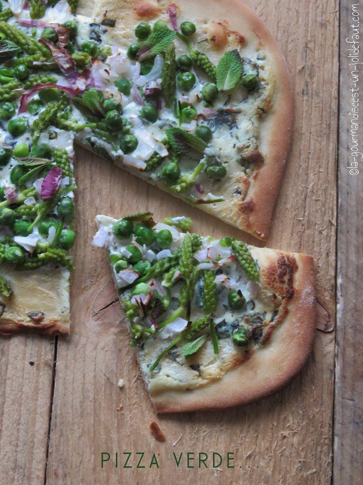 Pizza verte au levain