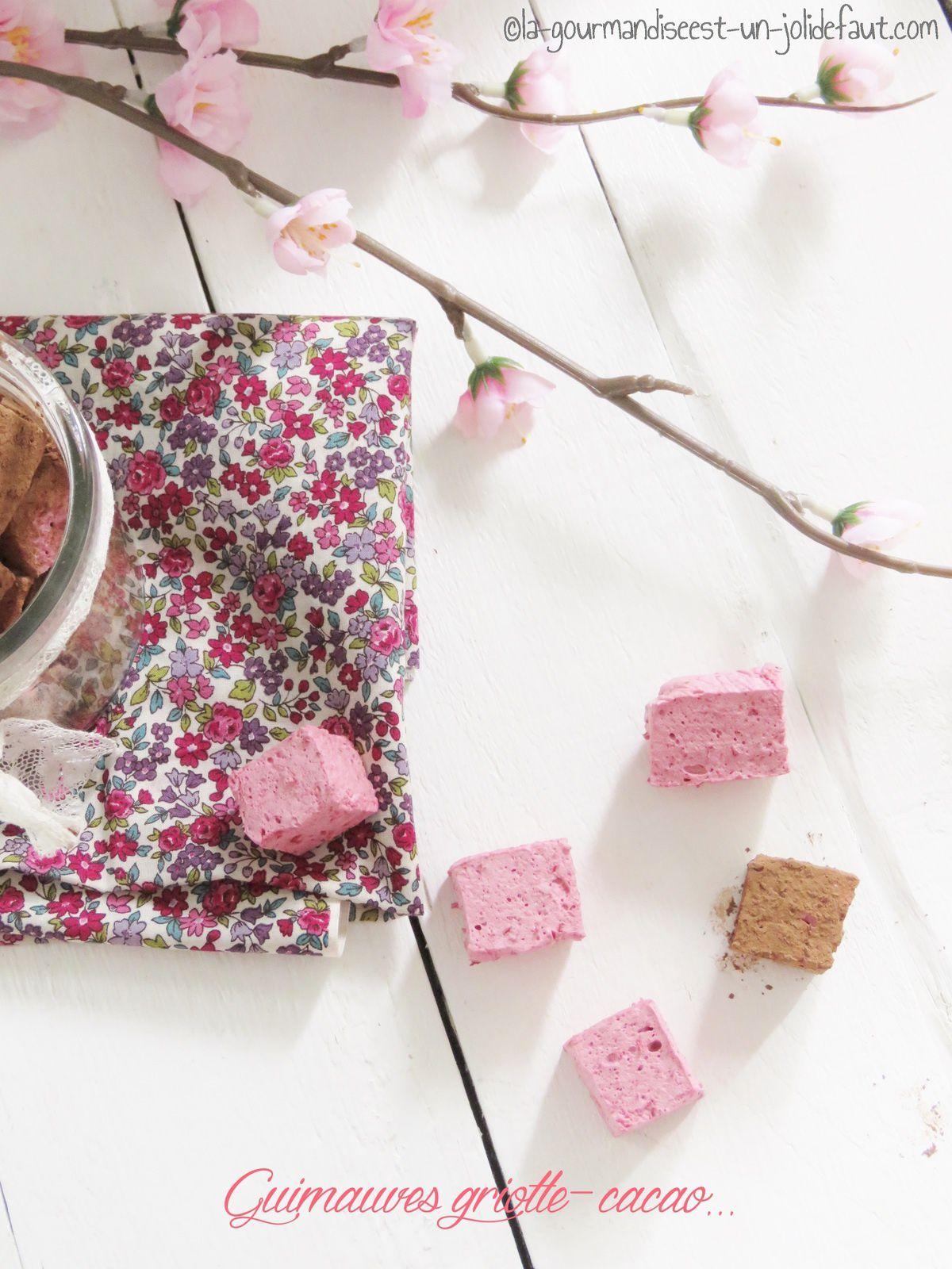 Guimauves à la cerise griotte enrobées de cacao