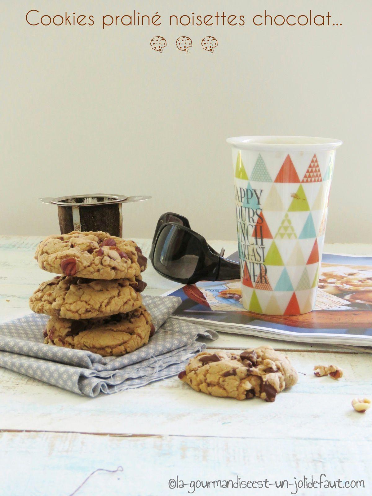 Cookies au praliné noisette et chocolat noir