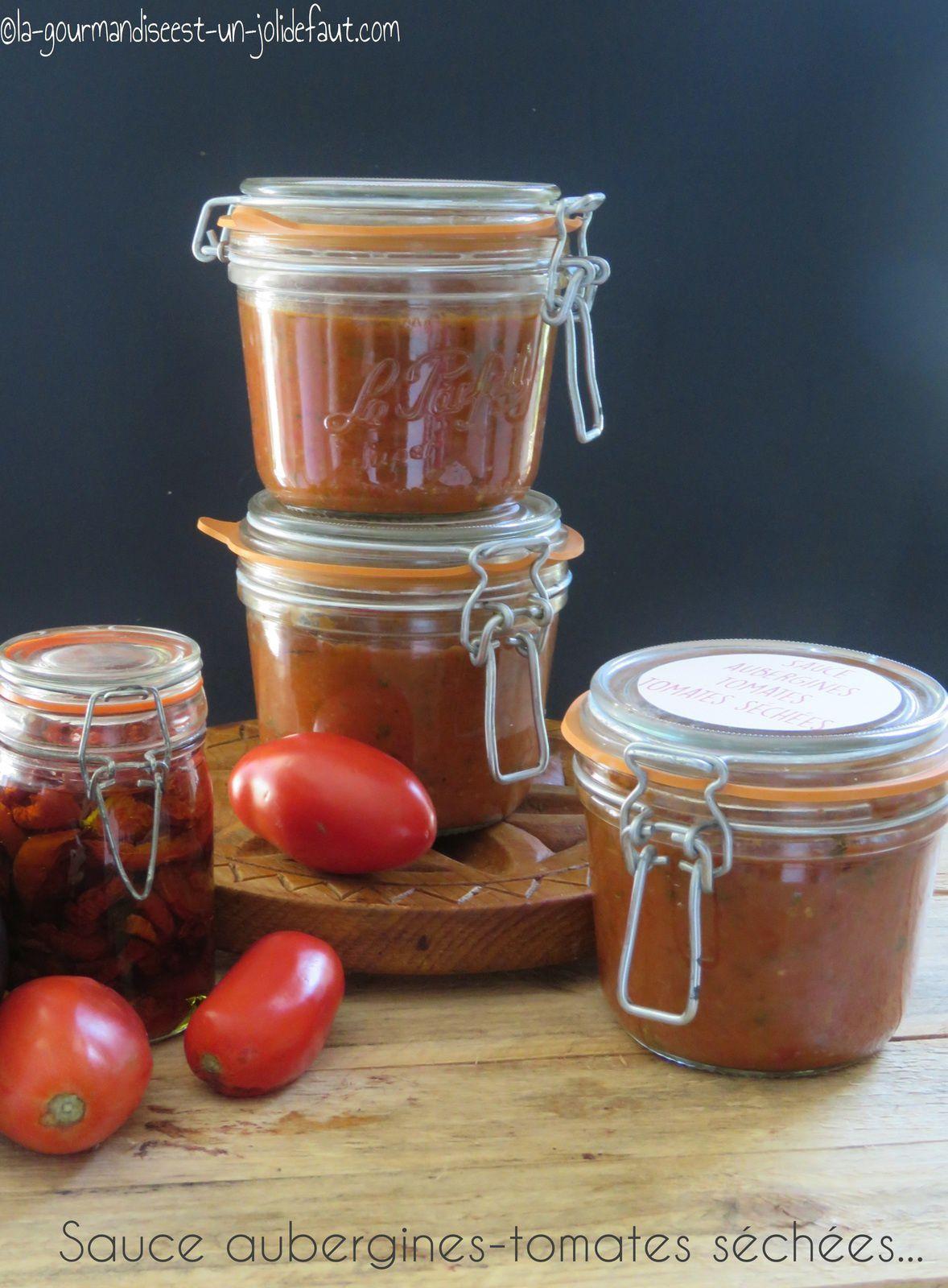 Sauce aubergines-tomates séchées en bocaux
