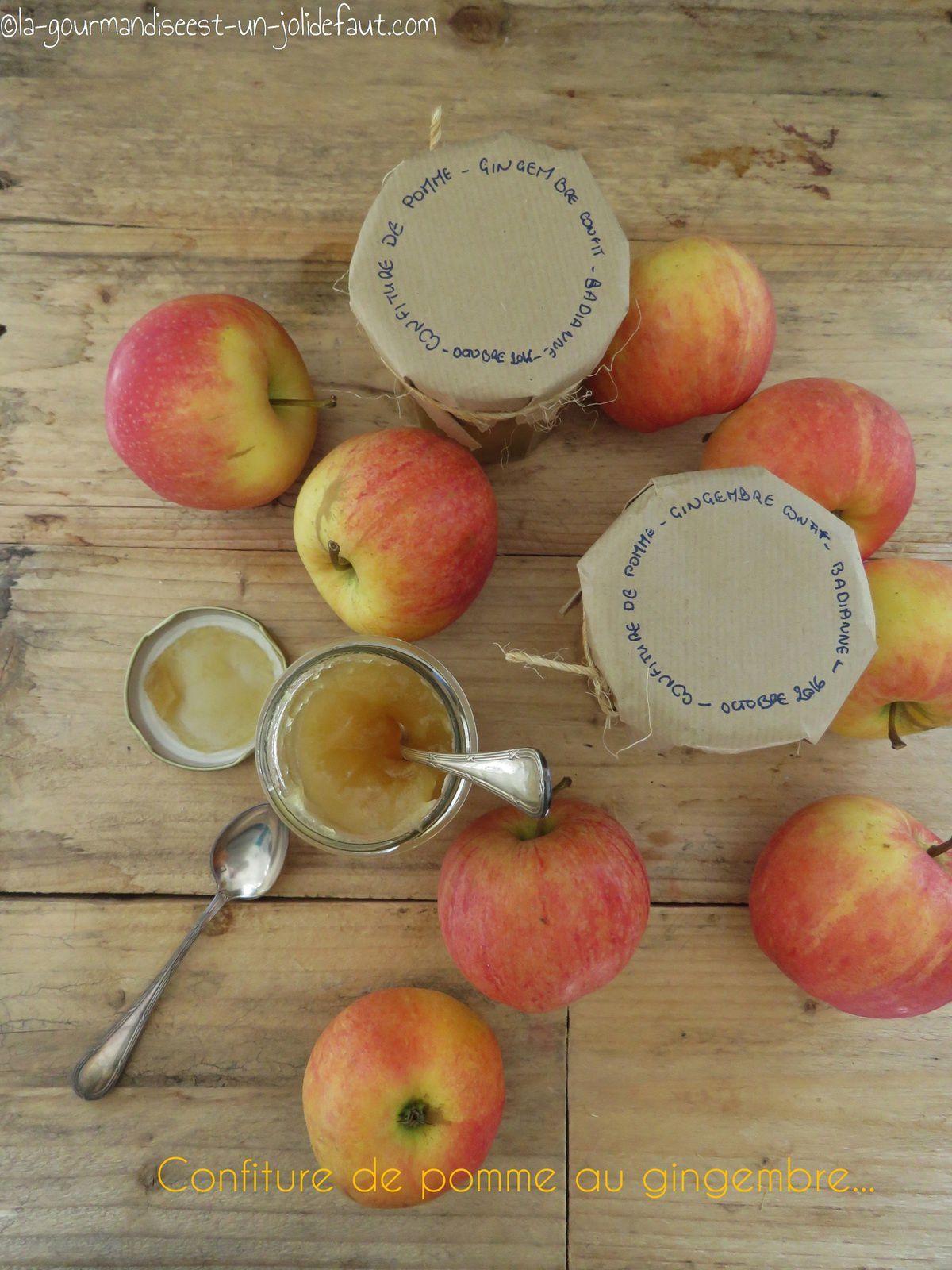 Confiture de pomme au gingembre confit et badiane
