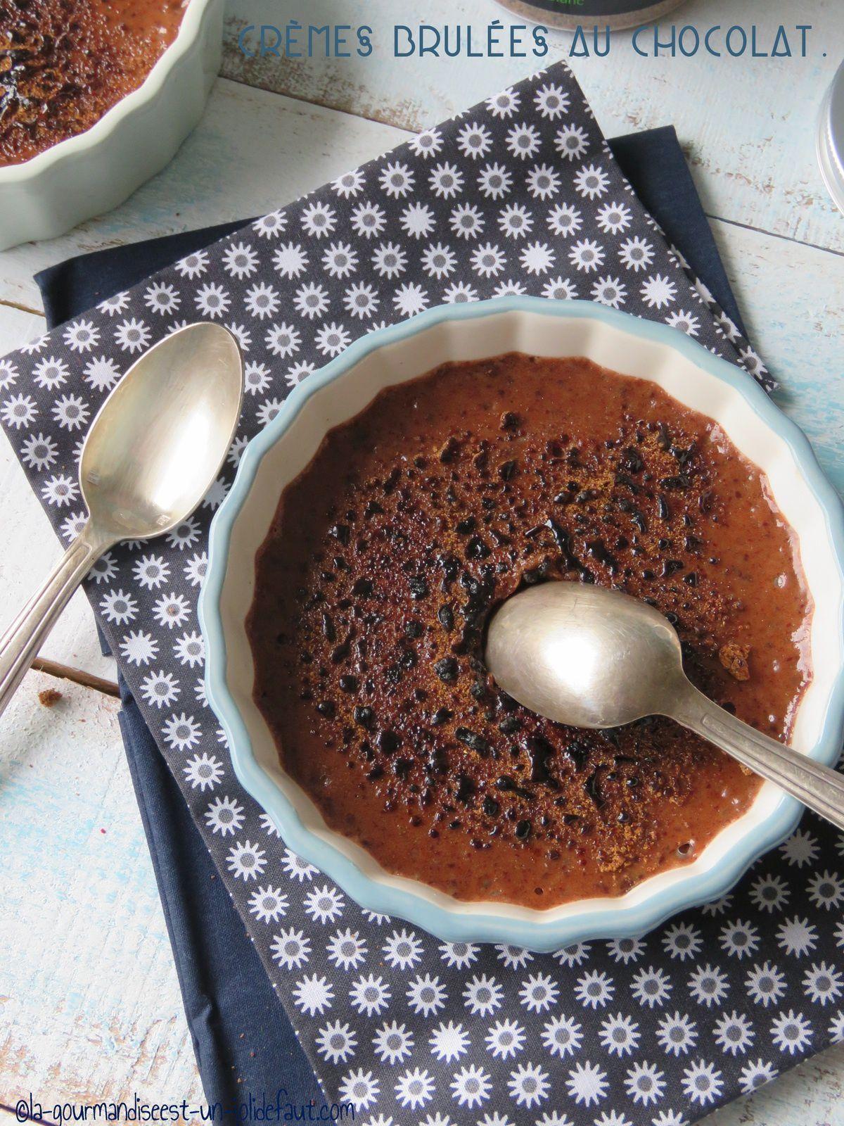 Crème brulée au chocolat et mascarpone