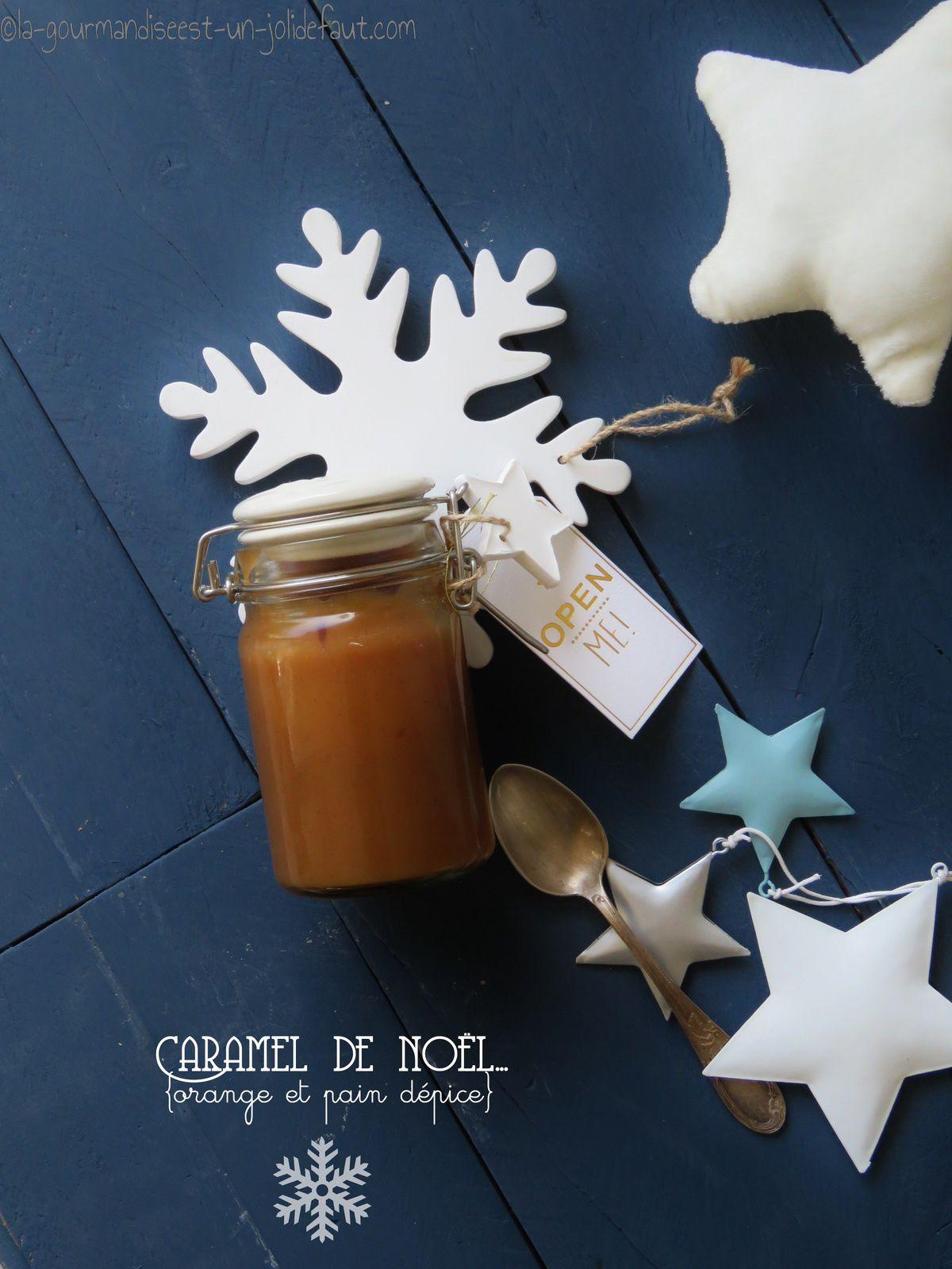 Caramel de noël {orange et épices à pain d'épice}