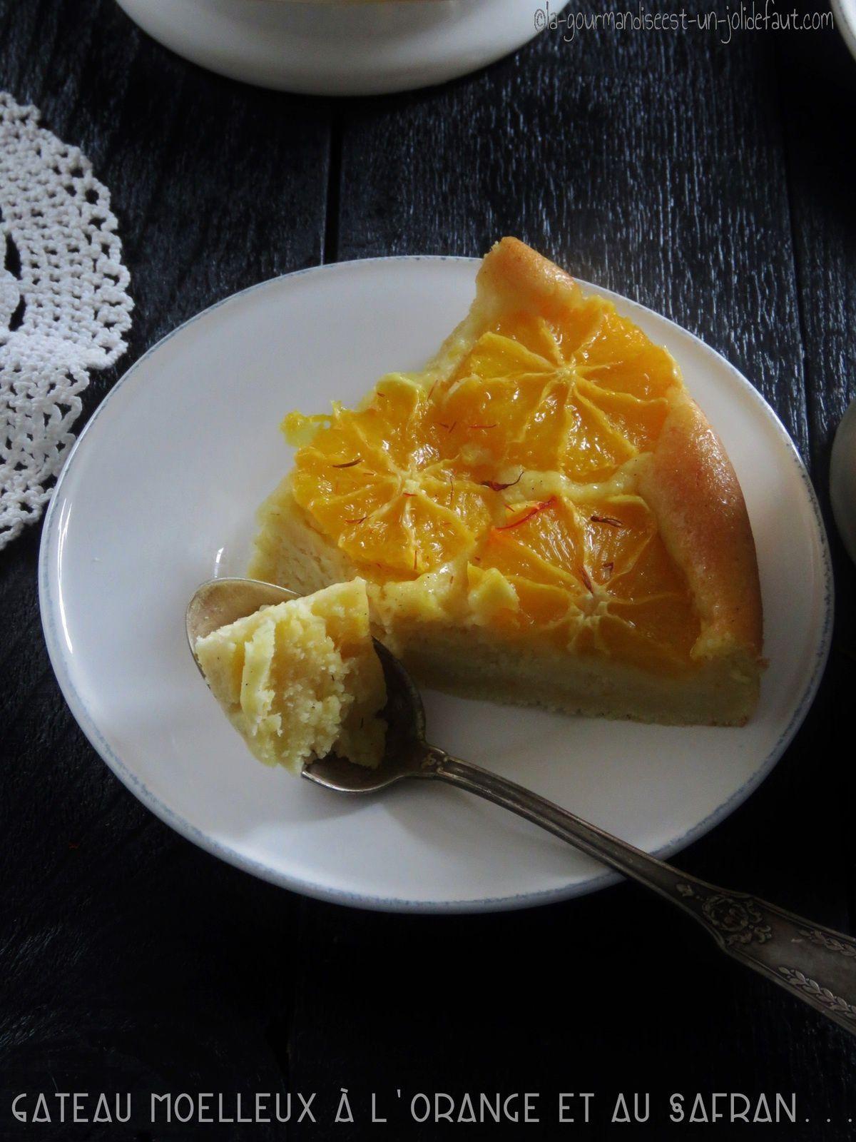 Gâteau moelleux au safran et aux oranges