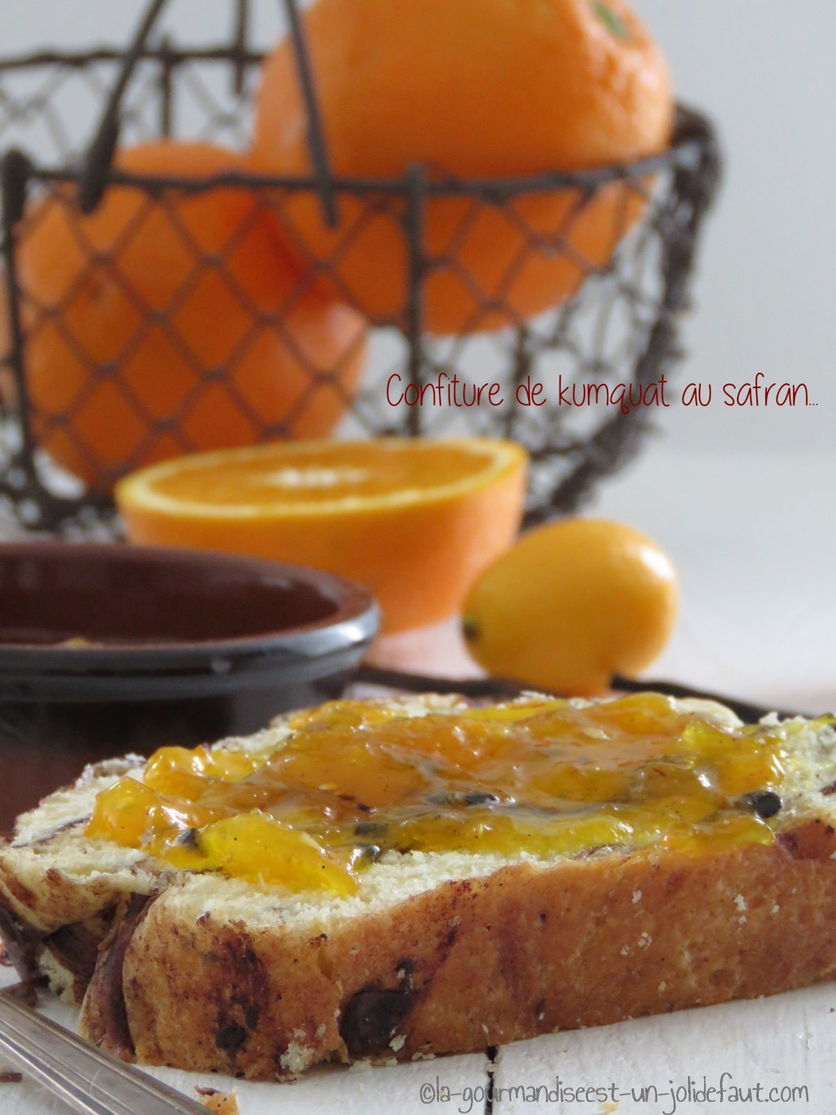 Confiture de kumquat au safran et fruit de la passion