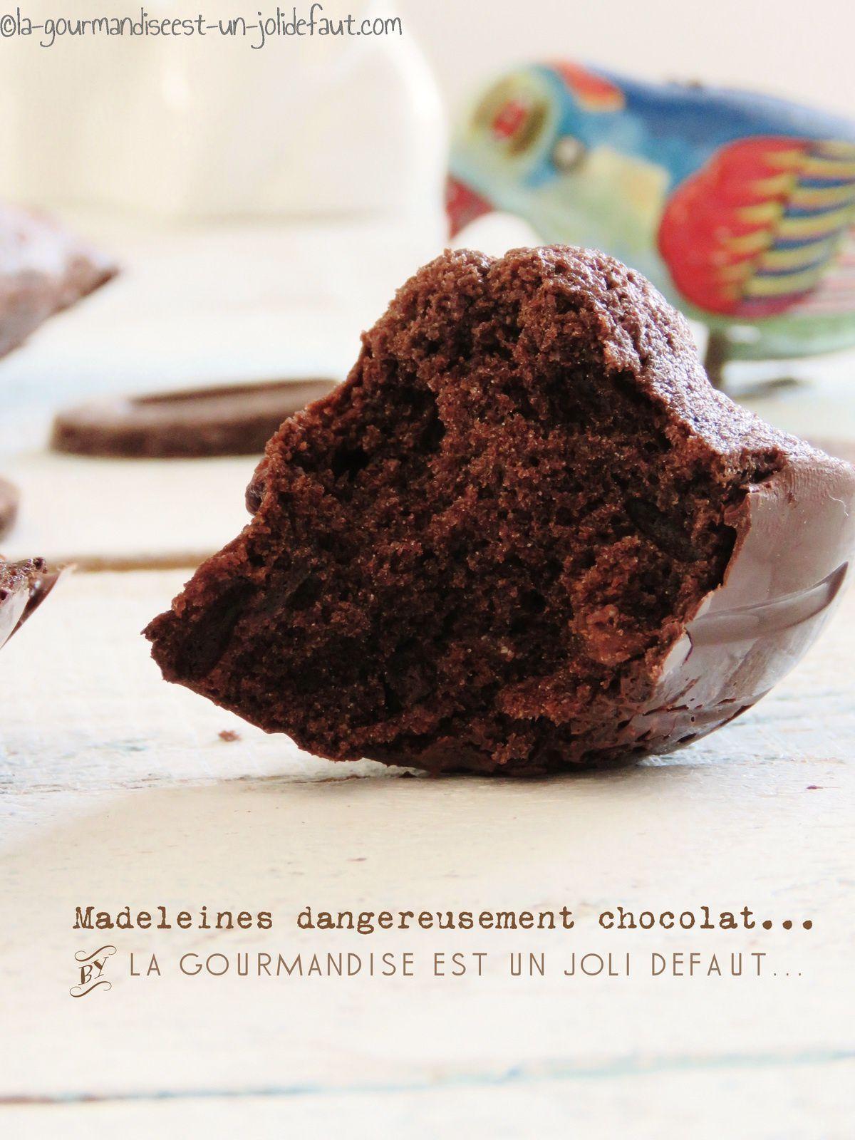 Madeleines dangereusement chocolat