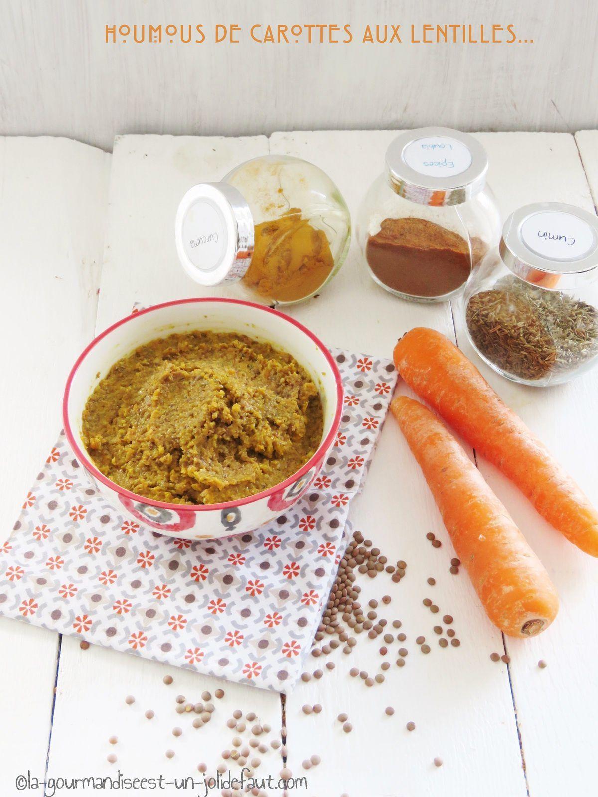Houmous de carottes aux lentilles