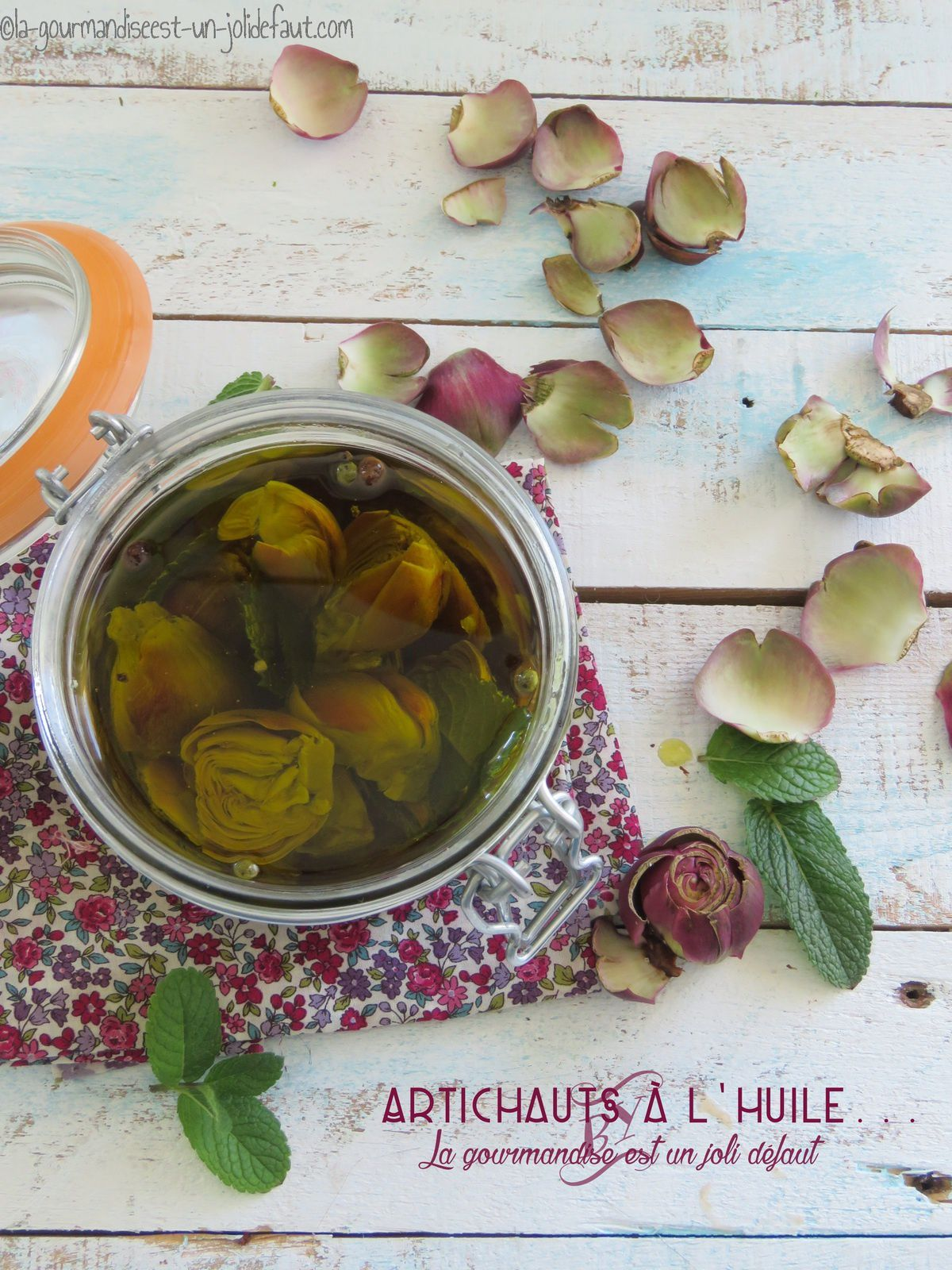 Mini artichauts à l'huile