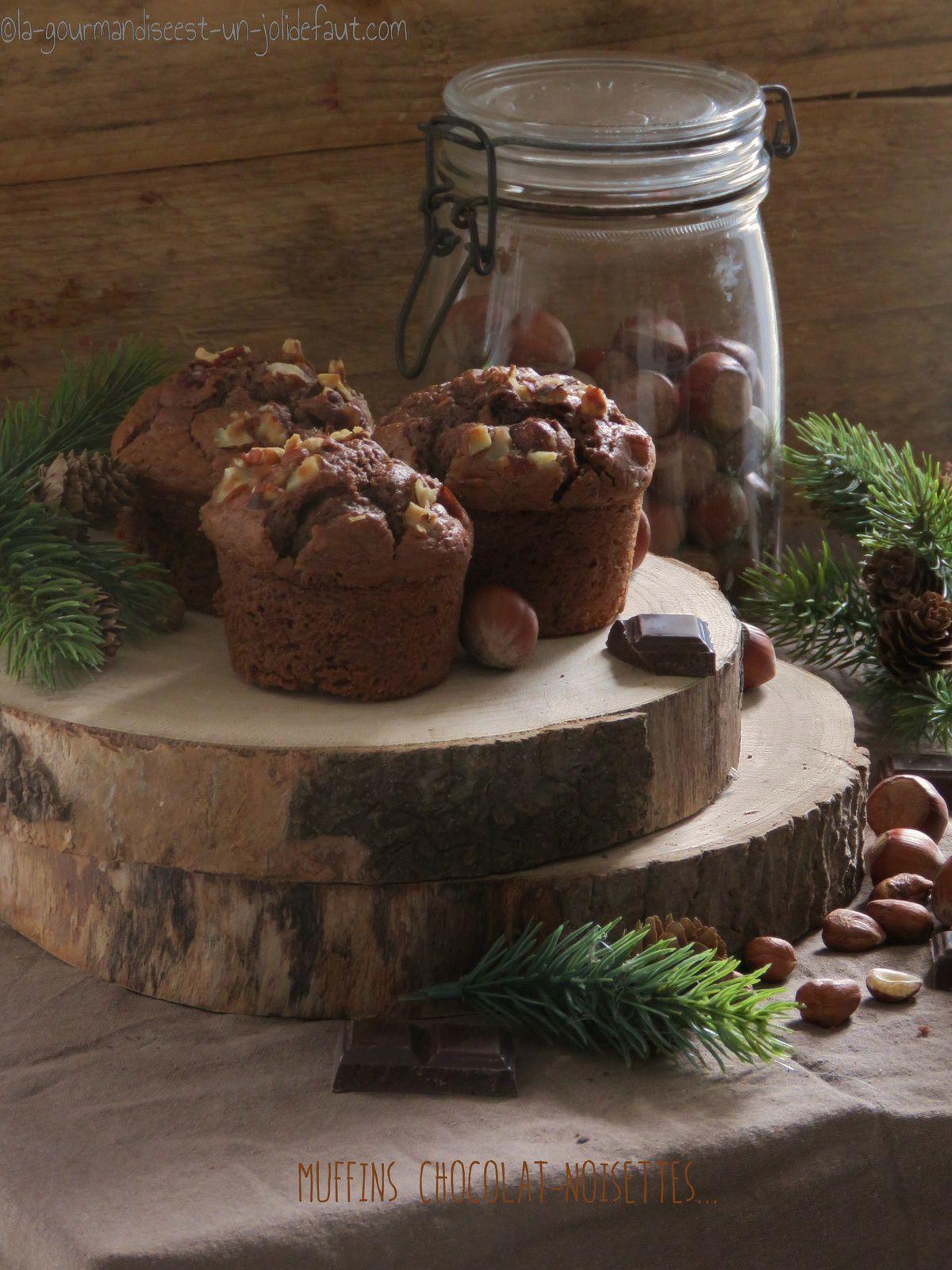Muffins au chocolat et noisettes