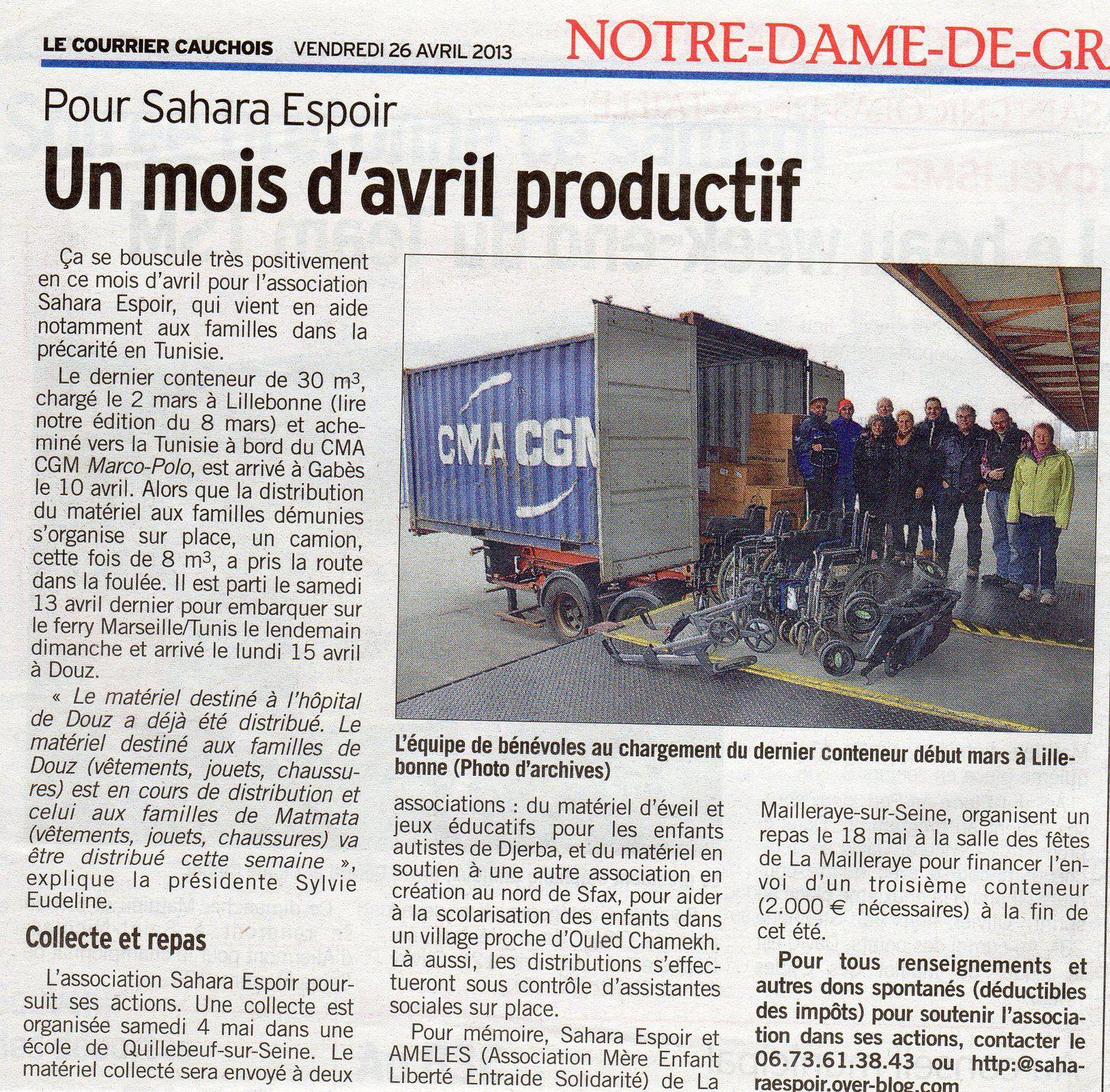 Le Courrier Cauchois - 26/04/2013