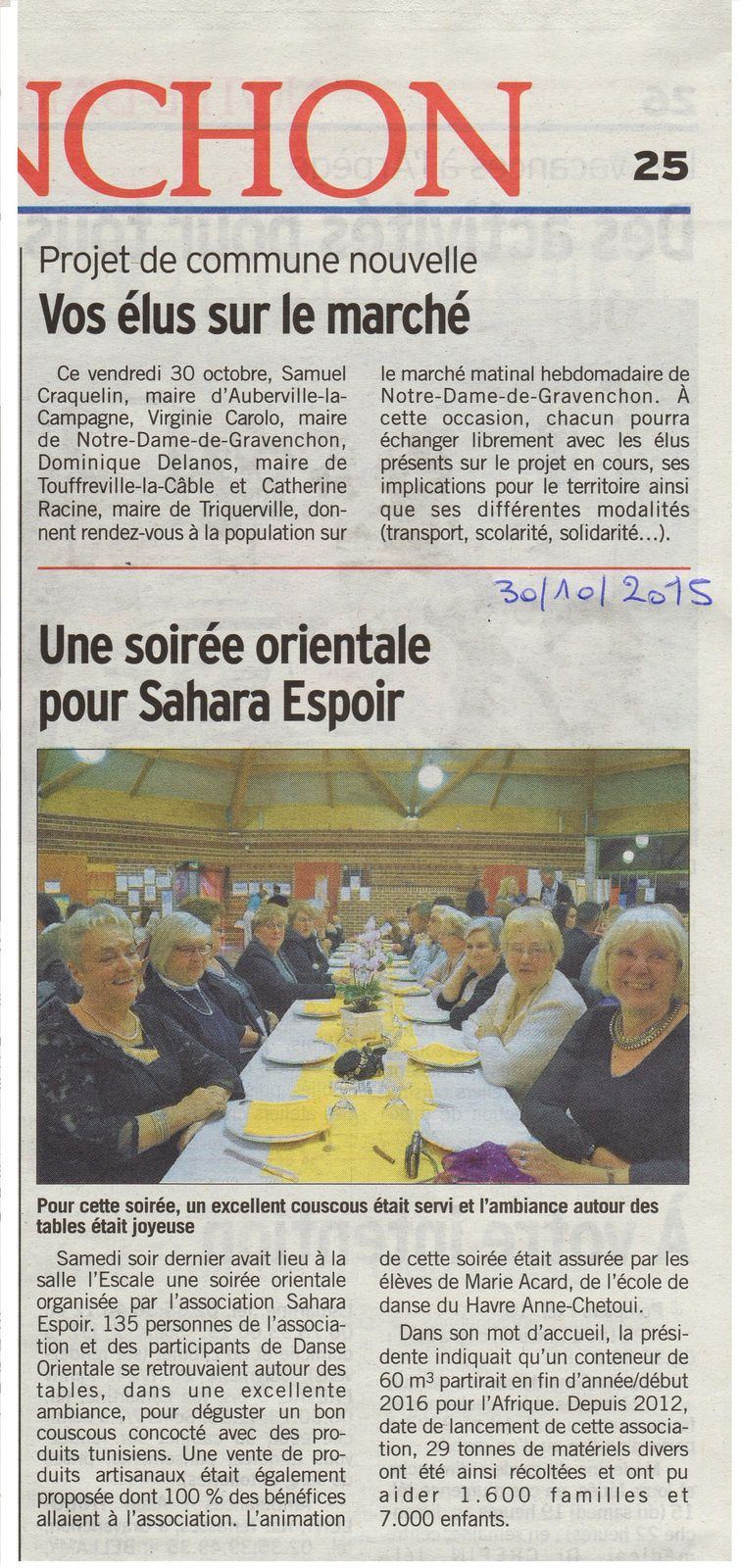 Courrier Cauchois 30 octobre 2015