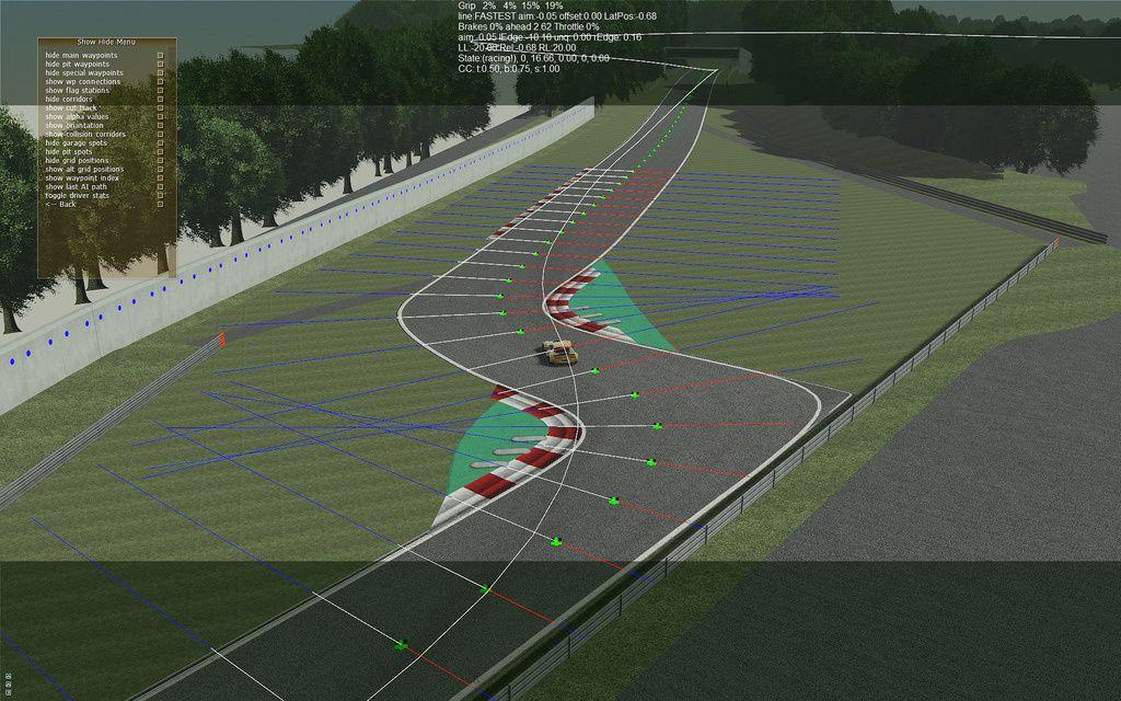 rFactor 2 circuit Zolder : images du développement