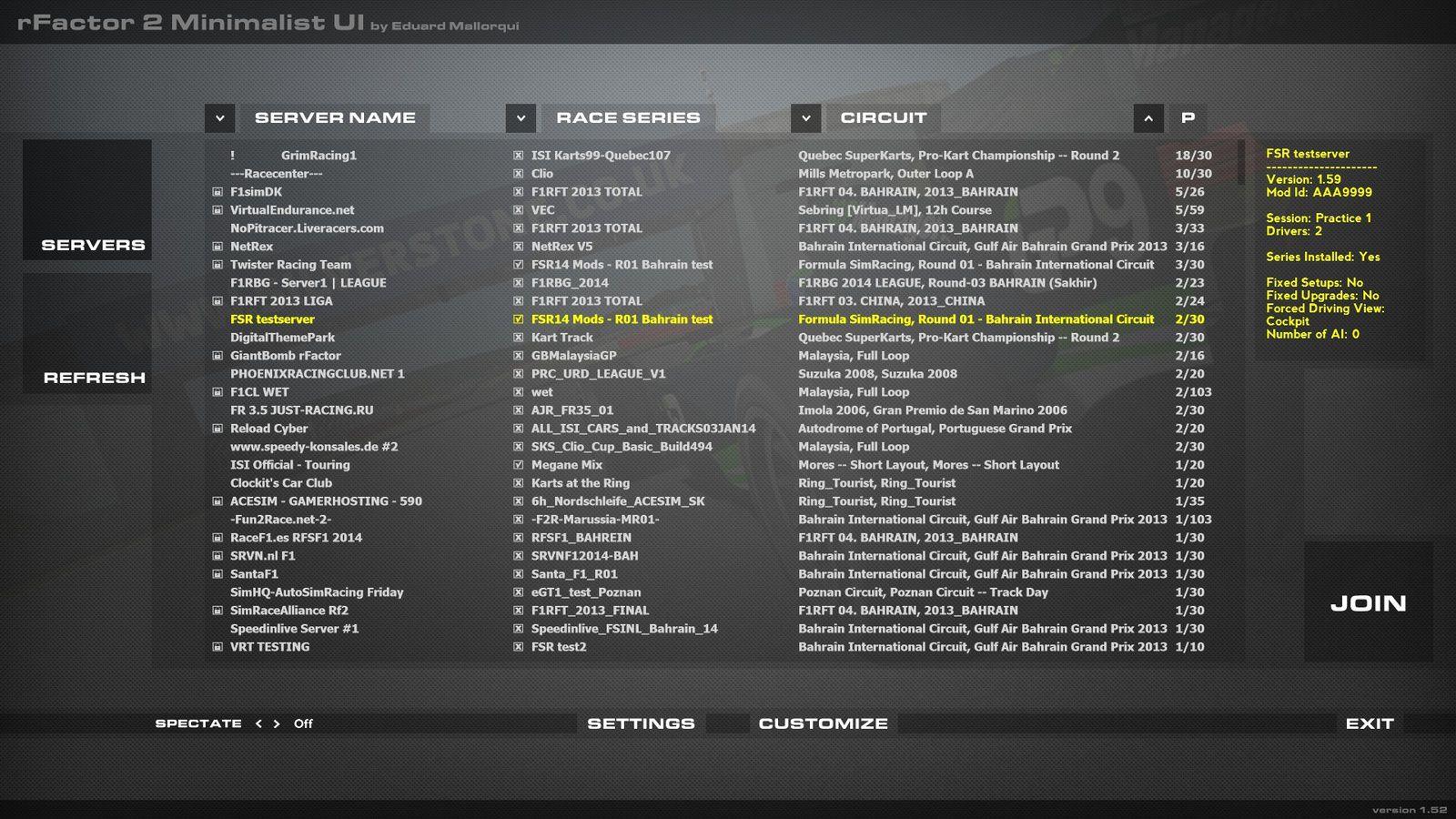 rFactor 2 Mod Minimalist HD UI disponible !