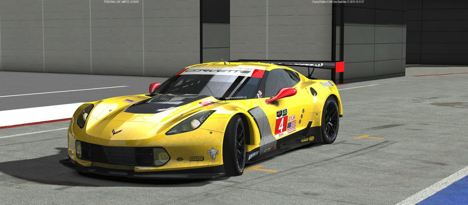 rFactor 2 Mod Endurance Racing X : Pack Corvette disponible !