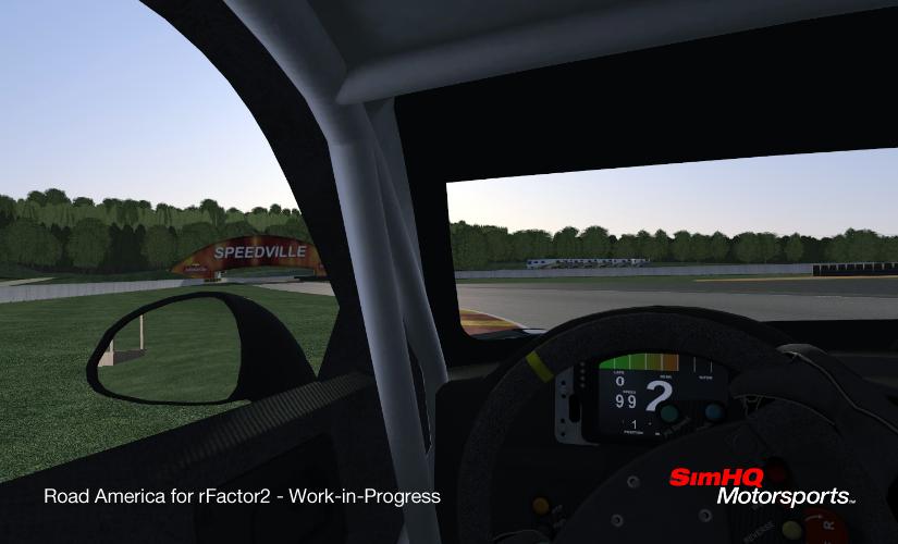 rFactor 2 circuit Road America en préparation