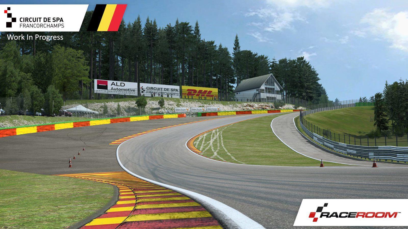 Raceroom - Spa-Francorchamps, ça avance !