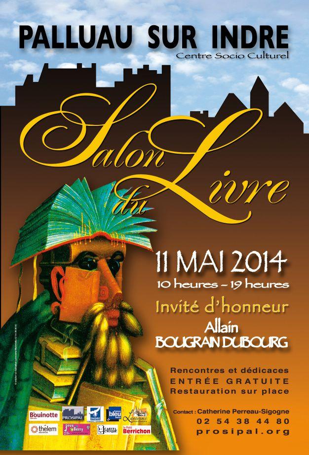 Salon du livre de Palluau sur Indre, dimanche 11 mai