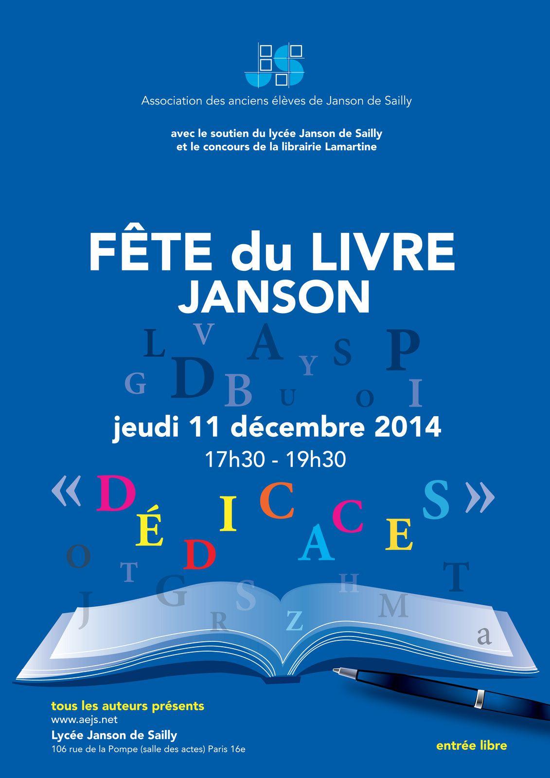 Fête du livre à Janson de Sailly, jeudi 11 décembre