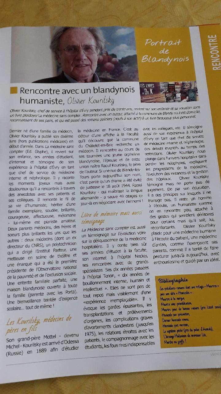 Un article dans le bulletin municipal qui me fait rougir de confusion ... 😳