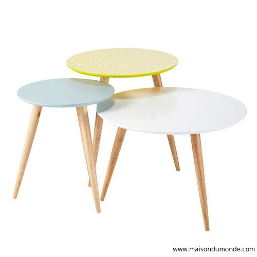 Table Basse Tripode Design Moderniste. Kustom Design