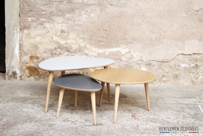Creer une table basse scandinave - Table basse scandinave gigogne ...