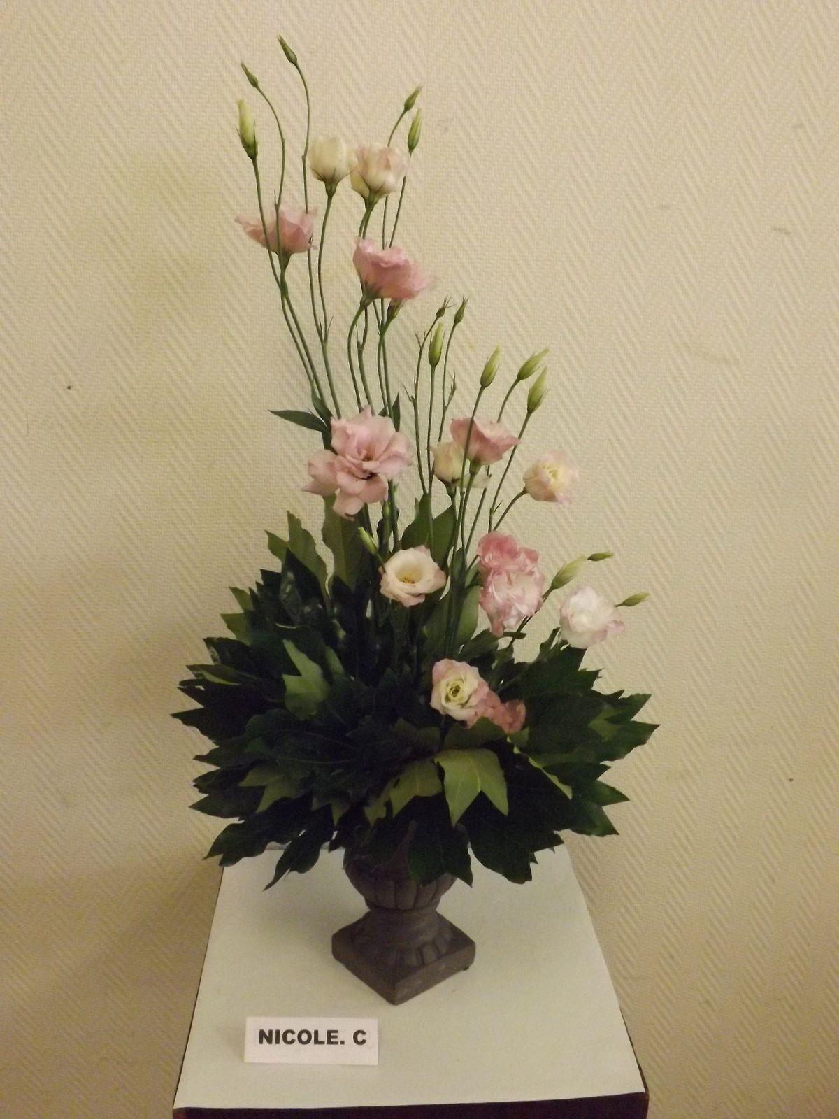 Aralia, fleurs d'ail, coques de pavots ou lisianthus