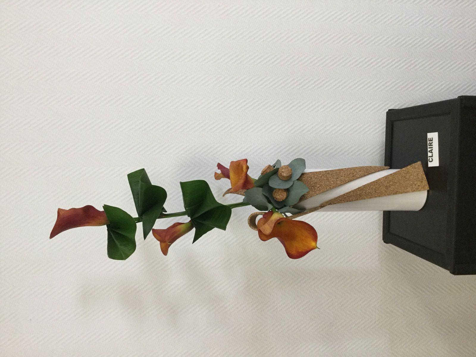 Liége, Arum Calla , Anthurium, Aspidistra, Eucalyptus.